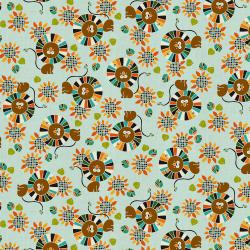 NM103-SK1U Kawaii Nakama - Raion - Sky Unbleached Fabric