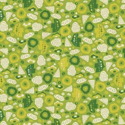 NM105-LE3U Kawaii Nakama - Flying Bird - Leaf Unbleached Fabric