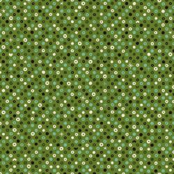 NM204-GR1U Waku Waku Christmas - Sequins - Green Unbleached Fabric