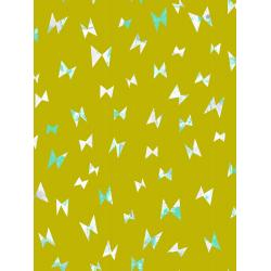 OE104-CI1 Once Upon a Time - Flying Ribbon - Citron Fabric