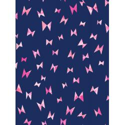 OE104-NA5K Once Upon a Time - Flying Ribbon - Navy Knit Fabric