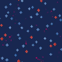 OE105-NA2 Once Upon a Time - Bouquet Burst - Navy Fabric