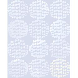 OE204-CL3 Snow Flowers - Hydrangea - Clouds Fabric