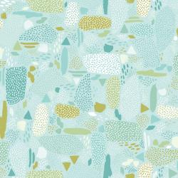 PK105-AQ1 Girl's Club - Pebbles - Aqua Fabric