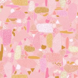 PK105-PI3 Girl's Club - Pebbles - Pink Fabric