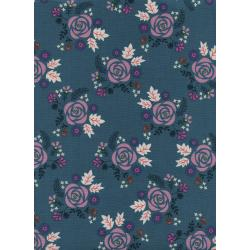 R1972-002 Akoma - Wildflower - Teal Fabric