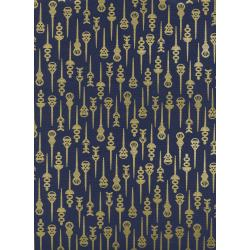 R1974-002 Akoma - Pin Up - Navy Metallic Fabric