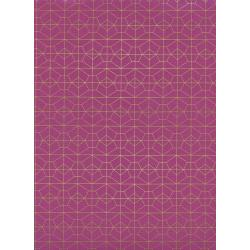 R1976-001 Akoma - Geo Grid - Fuschia Metallic Fabric