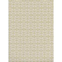 R1976-002 Akoma - Geo Grid - Natural Metallic Fabric
