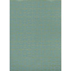 R1976-003 Akoma - Geo Grid - Sky Metallic Fabric