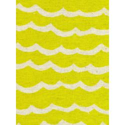 R1953-012 Kujira & Star - Waves - Citron Canvas Fabric
