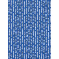 R1959-001 Lagoon - Mini Chimes - Cobalt Unbleached Cotton Fabric