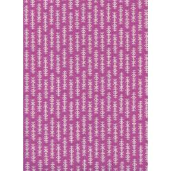 R1959-002 Lagoon - Mini Chimes - Orchid Unbleached Cotton Fabric