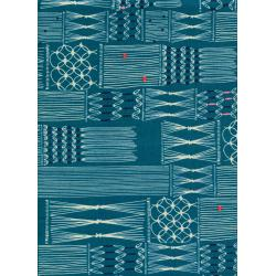 R1929-001 Macrame - Wall Hanging - Deep Sea Fabric