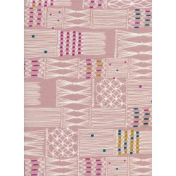 R1929-002 Macrame - Wall Hanging - Blush Fabric