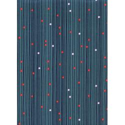 R1932-001 Macrame - Bead Curtain - Deep Sea Fabric