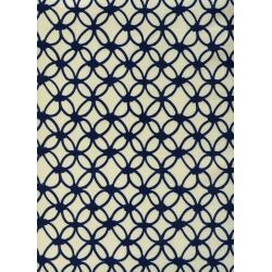 R1933-002 Macrame - Knotty - Navy Fabric