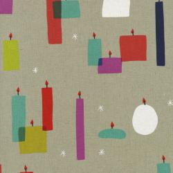 R1909-012 Moonlit - Light A Candle Canvas Fabric