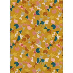 R1964-001 Paper Cuts - Shape Up - Sunshine Unbleached Cotton Fabric