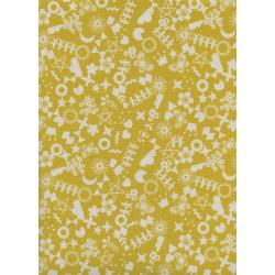 R1968-003 Paper Cuts - Cut It Out - Maize Unbleached Cotton Fabric