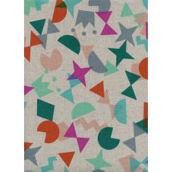 R1969-012 Paper Cuts - Shape Up - Gem Canvas Fabric