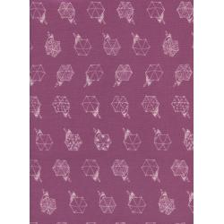 R1942-003 Raindrop - Rainwalk - Bubblegum Fabric