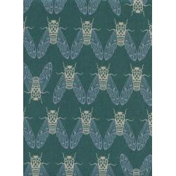 R1944-012 Raindrop - Cicada Song - Mist Canvas Fabric