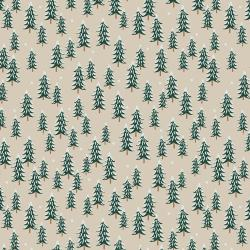 RP604-LI2 Holiday Classics - Fir Trees - Linen Fabric
