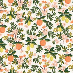 RP300-CR1 Primavera - Citrus Floral - Cream Fabric