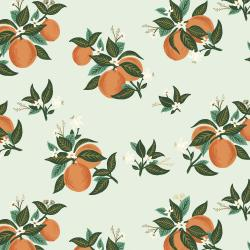 RP301-OR4M Primavera - Citrus Blossom - Orange Metallic Fabric