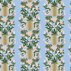 RP302-PE1M Primavera - Pineapple Stripe - Periwinkle Metallic Fabric