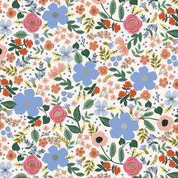 RP303-CR3R Primavera - Wild Rose - Cream Rayon Fabric