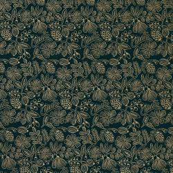 RP308-BK3M Primavera - Moxie Floral - Black Metallic Fabric