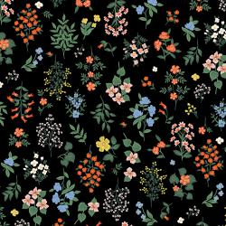 RP401-BK1 Strawberry Fields - Hawthorne - Black Fabric