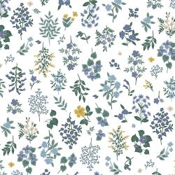 RP401-PE3 Strawberry Fields - Hawthorne - Periwinkle Fabric