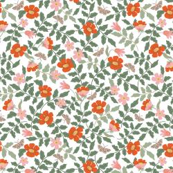 RP402-IV2 Strawberry Fields - Primrose - Ivory Fabric