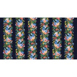 RP101-BL4R Wildwood - Garden Party Vines - Blue Rayon Fabric
