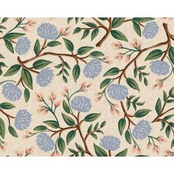 RP102-CR5C Wildwood - Peonies - Cream Canvas Fabric