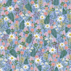 RP106-BL1 Wildwood - Wildflowers - Blue Fabric