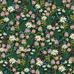 RP106-HU3 Wildwood - Wildflowers - Hunter Fabric