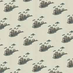 SY105-SK4U London Town - Take Me To Stonehenge - Sky Unbleached Fabric