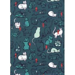 S2025-003 Cat Lady - Schmitties - Dusty Blue Fabric