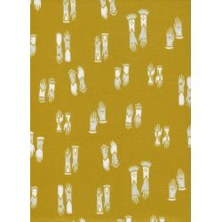 S2027-001 Cat Lady - Kitten Mittens - Mustard Fabric