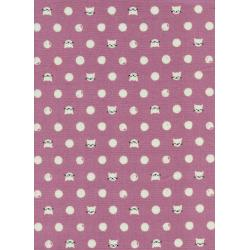 S2030-001 Cat Lady - Friskers - Lavender Fabric