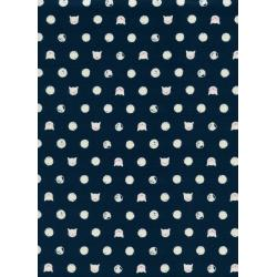 S2030-002 Cat Lady - Friskers - Navy Fabric