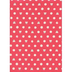 S2030-003 Cat Lady - Friskers - Coral Fabric