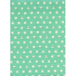 S2030-023 Cat Lady - Friskers - Teal Double Gauze Fabric