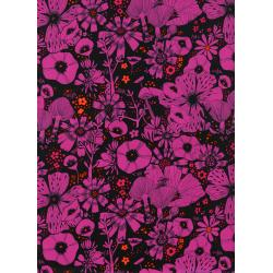 S2031-025 Cat Lady - Purrfect Hiding Spot - Purple Rayon Fabric
