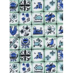 S2033-002 From Porto With Love - Pastry Shop - Mint Fabric