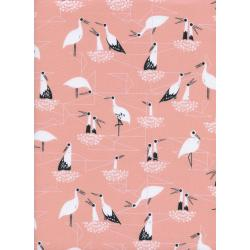 S2034-003 From Porto With Love - Stork Nest - Pink Fabric